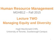 MGHB12 - F15 - Lecture TWO SV  -Managing Equity and Diversity(1)