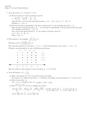 Practice Exam 1 Solution Summer 2012