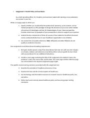 Health Policy and Law Basics 1.docx