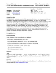 IST352 - Systems Analysis Syllabus 2012 Spring