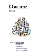 Week 1 - 11th CH 1  Introduction to E-Commerce