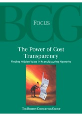 Finance BCG Power of Cost Transparency