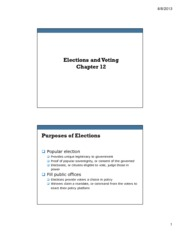 Ch 12 Elections and Voting