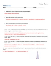 Solutions Homework 2.2 Normal Distributions