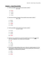 ANSWER KEY - Chapter 7 - Exam Prep Activity