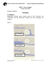 PH301 lecture 9 (week9)  -2014 -  (turbines)
