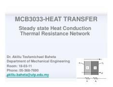 Lecture 4-Thermal resistance network