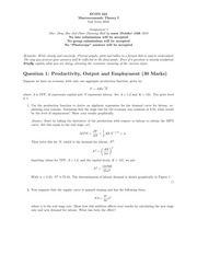 ECON 222 Fall 2010 Assignment 2 Solutions