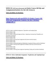 Course-All-DQs-and-Assignments-Statistics-for-the-Life-Sciences-Homework-Aid
