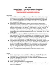 Group Paper on Presenting Results