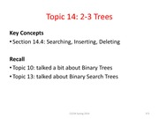 CS234-Topic-14-2-3-Trees