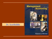 CH01 The Role, History, and Direction of Management Accounting