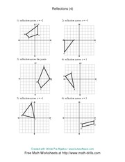 Worksheets Reflection Worksheet math 8 reflection worksheet 4 solutions x y d g m u across 1 n k k