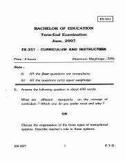 (www.entrance-exam.net)-IGNOU - B.Ed. Curriculum and Instruction(ES-331) Sample Paper 3