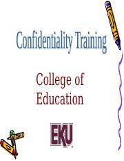 Confidentiality Training.ppt