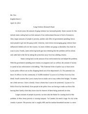 outline of gang violence research paper mr tice english block  5 pages gang violence research paper
