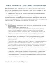 personal experience narrative essay