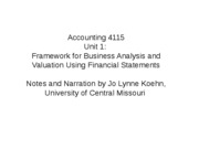 Unit 1_ Framework for Business Analysis and Valuation Using Financial Statements Presentation