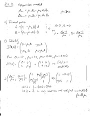 Homework  Solutions on Systems of discrete Equations