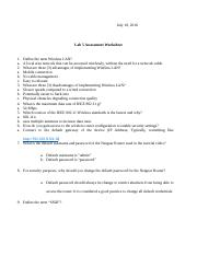 Lab 5 Assessment Worksheet