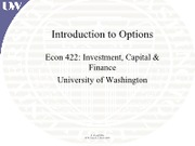 Lecture 12 - Options