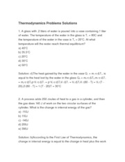 thermodynamics solutions