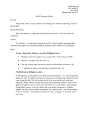 Persepolis World Literature Essay Outline