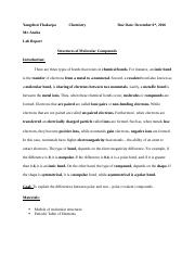 Chemistry Lab Report 4 molecule.docx