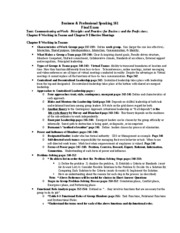 Study Guide for Final Exam Small Group Only