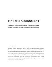 FINC2012 assignment (Distinction).docx