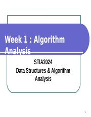 Week 1 - AlgorithmAnalysis.ppt
