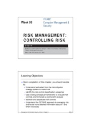 The TVA Worksheet At the end of the risk identification process a ...