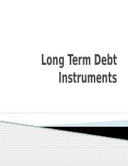 Long-tenm debt