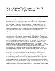 It_Is__Not_Worth_The_Expense_And_Risk_To_Make_A_Manned_Flight_To_Mars-11_28_2013