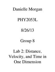 Physics 1 lab 2