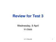 Test Review 3