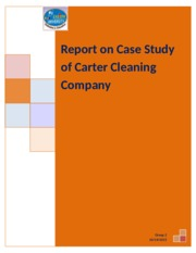 carter cleaning centers continuing case Carter cleaning continuing case chapter 6 1 the disadvantages of  carter  cleaning centers: continuing case essay continuing case:.