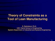 Theory of Constaints