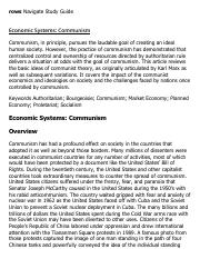 Economic Systems_ Communism Research Paper Starter - eNotes
