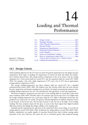 Chapter 14. Loading and Thermal Performance