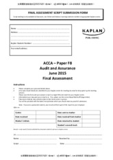 Audit Mock Exam - June 2015