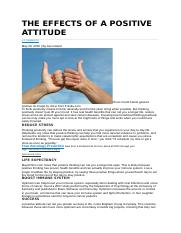 THE EFFECTS OF A POSITIVE ATTITUDE.docx