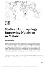 CH 38 Medical Anthropology Improving Nutrition in Malawi