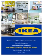 MSC - Advanced Strategic Management - 2015 - Strategic Groups - IKEA Report I