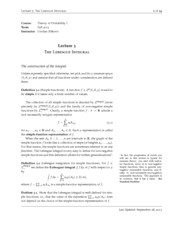Theory of Probability lebesgue_integration notes