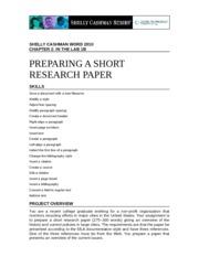 preparing a short research paper