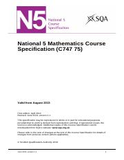 CfE_CourseSpec_N5_Mathematics_Mathematics