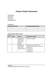 Project Charter Document Template 7_2013
