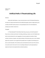 Artificial Hells II Theatricalising Life Final (1)