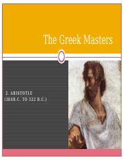 The Greek Masters